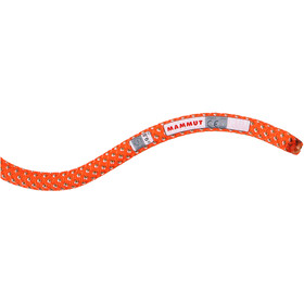 Mammut 9.8 Crag Classic Cuerda 80m, naranja/blanco